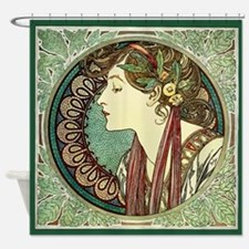 Alphonse Mucha Laurel Shower Curtain