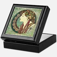 Alphonse Mucha Laurel Keepsake Box