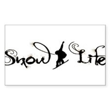 Snow Life Boarder (Black) Decal