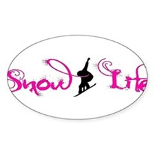 Pink snowlife with boarder Decal