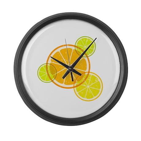 Citrus art Large Wall Clock