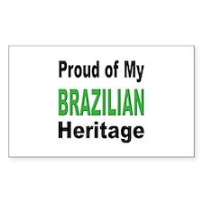 Proud Brazilian Heritage Rectangle Decal