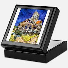Van Gogh Church At Auvers Keepsake Box