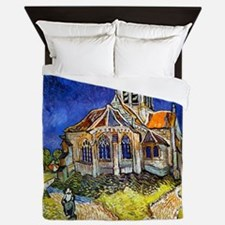 Van Gogh Church At Auvers Queen Duvet