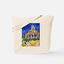 Van Gogh Church At Auvers Tote Bag