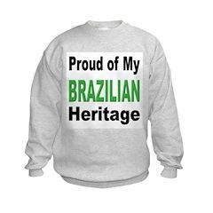 Proud Brazilian Heritage (Front) Sweatshirt
