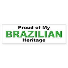 Proud Brazilian Heritage Bumper Bumper Sticker