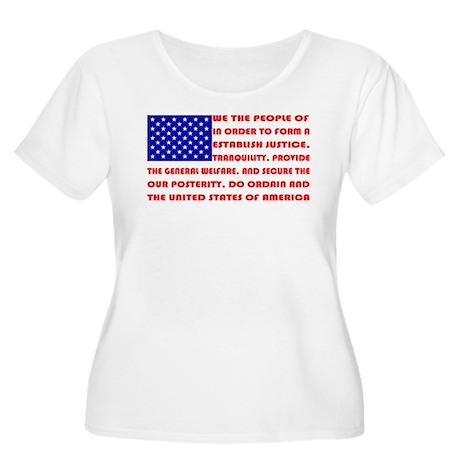 Preamble Flag Plus Size T-Shirt