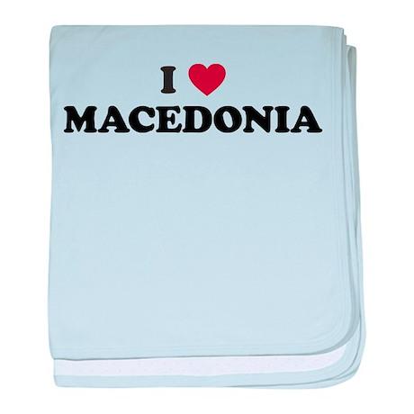 I Love Macedonia baby blanket