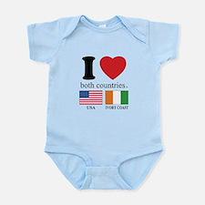 USA-IVORY COAST Infant Bodysuit