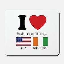 USA-IVORY COAST Mousepad