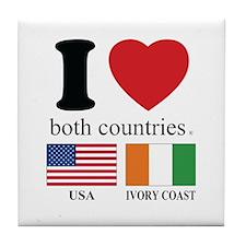USA-IVORY COAST Tile Coaster