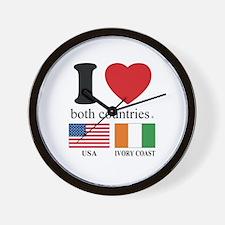 USA-IVORY COAST Wall Clock