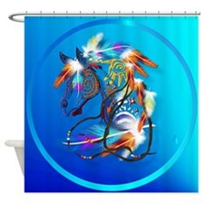 Bright Horse Shower Curtain