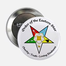 "Eastern Star 2.25"" Button"