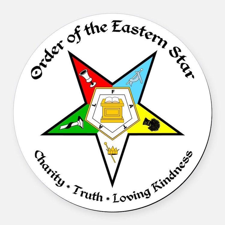 Eastern Star Round Car Magnet