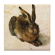 Albrecht Durer Young Hare Tile Coaster