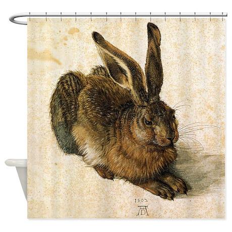 Albrecht Durer Young Hare Shower Curtain