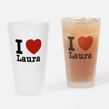 I Love Laura Drinking Glass