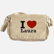 I Love Laura Messenger Bag