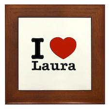 I Love Laura Framed Tile