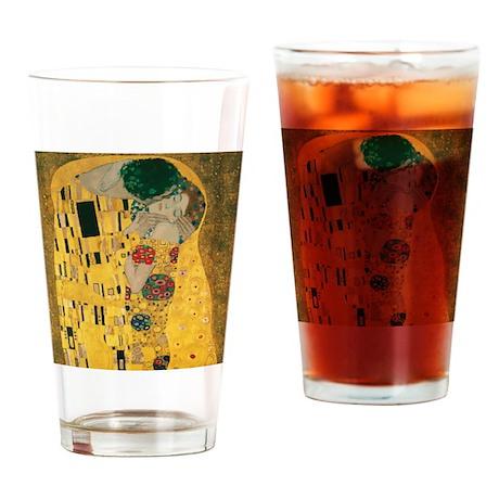Gustav Klimt The Kiss (Detail) Drinking Glass