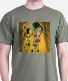 Gustav Klimt The Kiss (Detail) T-Shirt