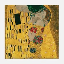 Gustav Klimt The Kiss (Detail) Tile Coaster