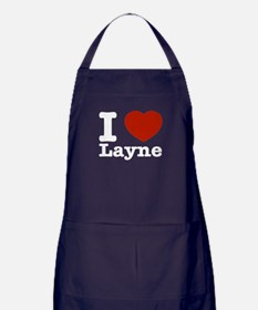 I Love Layne Apron (dark)