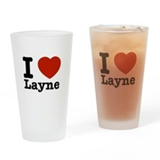 I Love Layne Drinking Glass