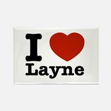 I Love Layne Rectangle Magnet