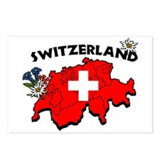 Cute Switzerland culture Postcards (Package of 8)