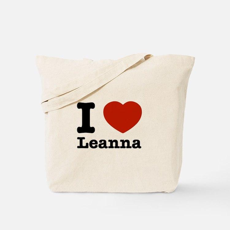I Love Leanna Tote Bag