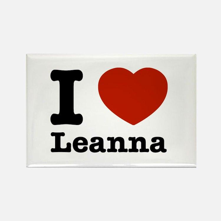 I Love Leanna Rectangle Magnet