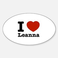 I Love Leanna Sticker (Oval)