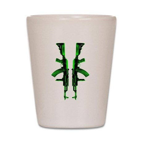 Green AKs Shot Glass