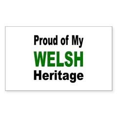 Proud Welsh Heritage Rectangle Decal