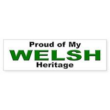 Proud Welsh Heritage Bumper Bumper Sticker