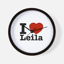 I Love Leila Wall Clock