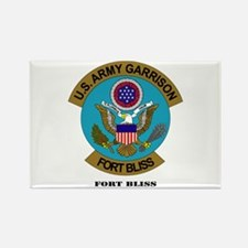 Fort Bliss with Text Rectangle Magnet