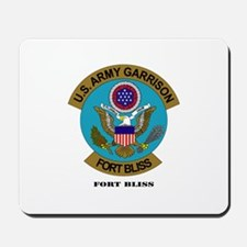 Fort Bliss with Text Mousepad
