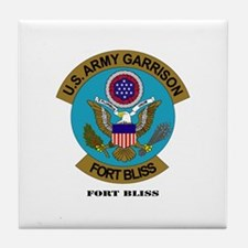 Fort Bliss with Text Tile Coaster
