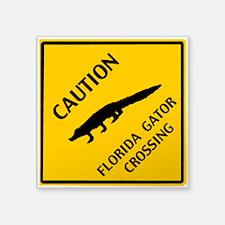 "Florida Gator Crossing Square Sticker 3"" x 3&"