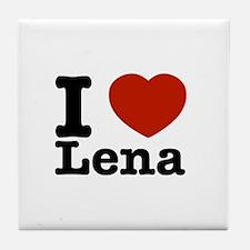 I Love Lena Tile Coaster
