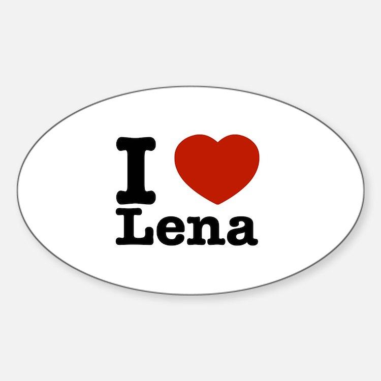 I Love Lena Decal
