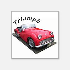 """1961 Triumph Sportscar! Square Sticker 3"""" x 3"""""""