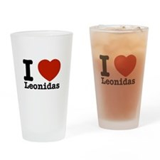 I Love Leonidas Drinking Glass