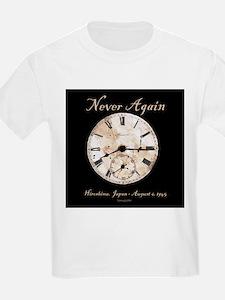 Hiroshima - Never Again Kids T-Shirt