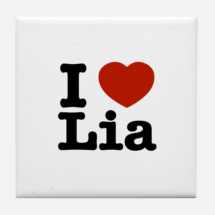 I Love Lia Tile Coaster