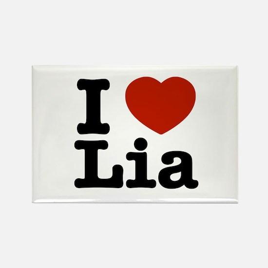 I Love Lia Rectangle Magnet